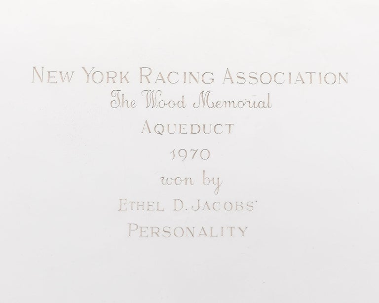 Other Aqueduct Wood Memorial Trophy Won by Personality For Sale