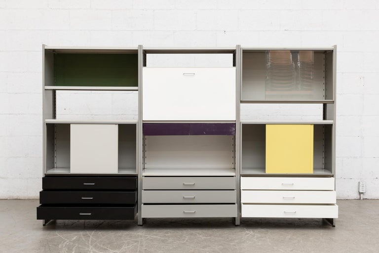 A.R. Cordemeyer Three-Section Cabinet for Gispen In Good Condition For Sale In Los Angeles, CA