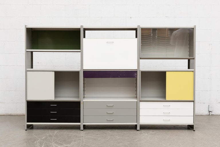 Mid-20th Century A.R. Cordemeyer Three-Section Cabinet for Gispen For Sale