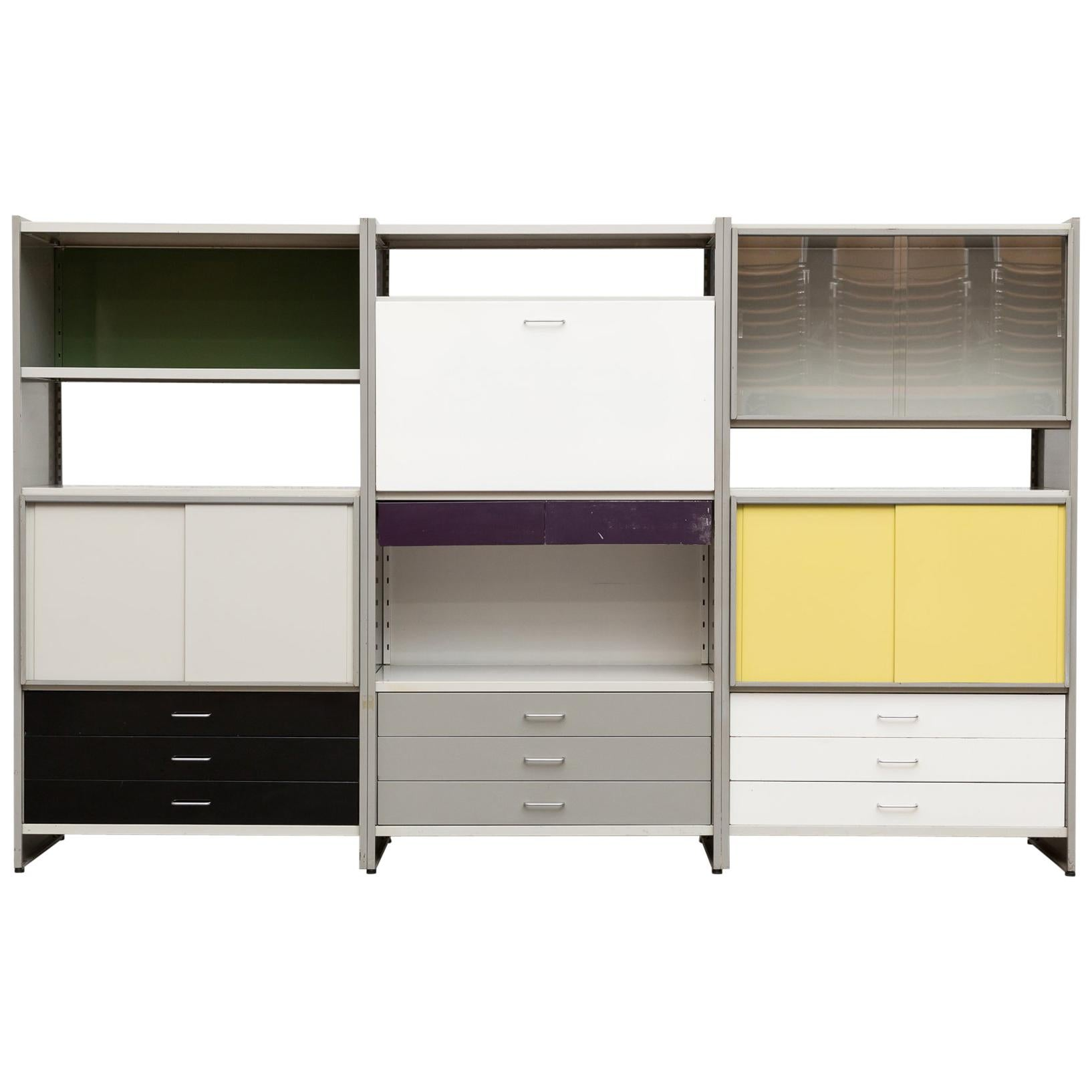 A.R. Cordemeyer Three-Section Cabinet for Gispen