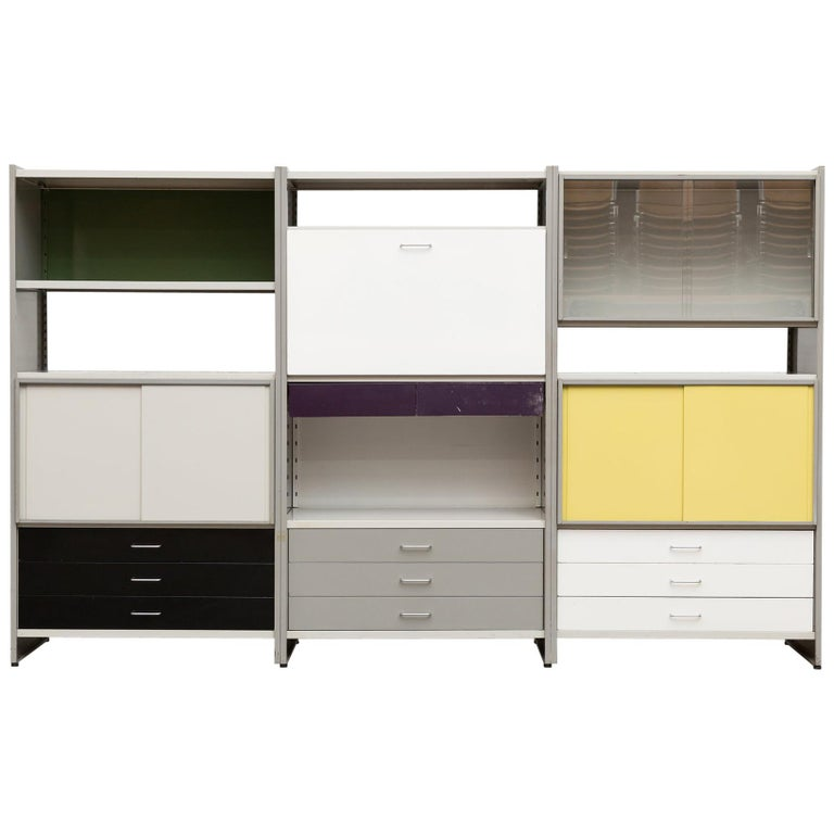 A.R. Cordemeyer Three-Section Cabinet for Gispen For Sale