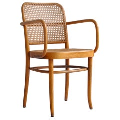 "Art Deco Thonet ""Prague"" Chair by Josef Hoffmann in Bentwood and Cane, 1920s"