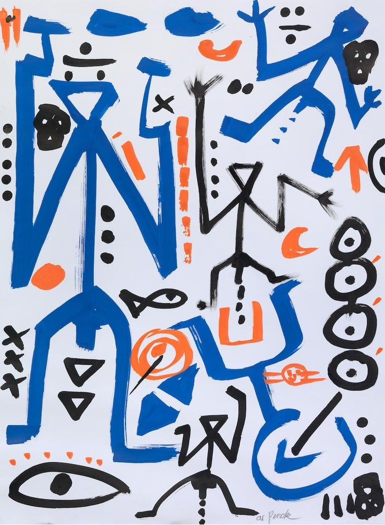 Ohne Titel - Mixed Media Art by A.R. Penck (Ralf Winkler)