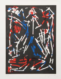Mul, Bul Dang & Sentimentality, Abstract Woodblock by A.R. Penck