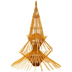 AR65 Abraham & Rol Floor Light, Ceiling Light, Pendant Light, Bamboo/Rattan
