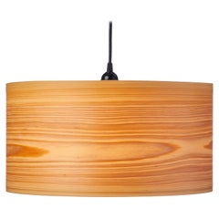 "ARA 17.5x10"" Cypress Wood Drum Chandelier Pendant"