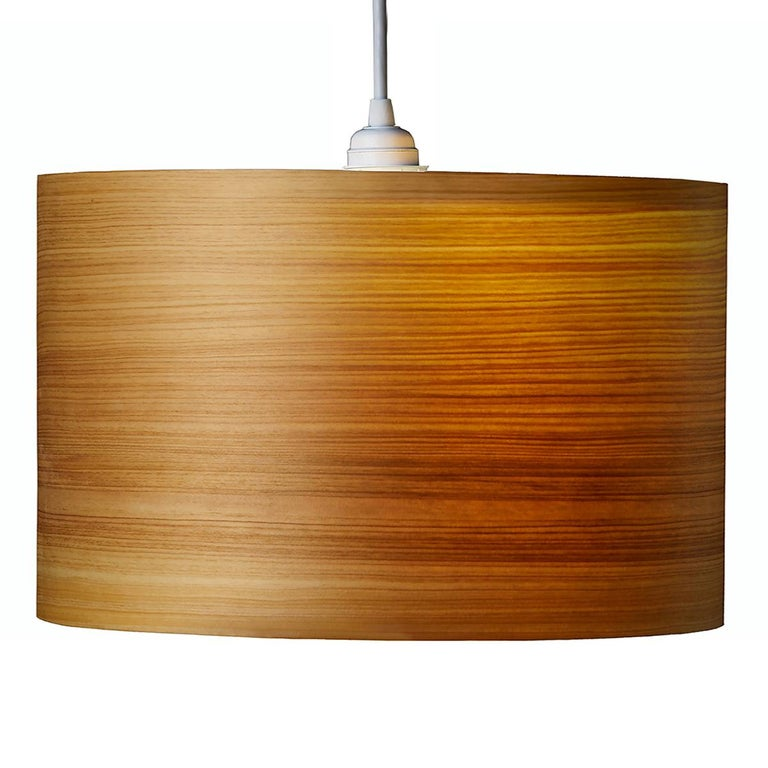 ARA Custom Cypress Wood Drum Chandelier Pendant  1