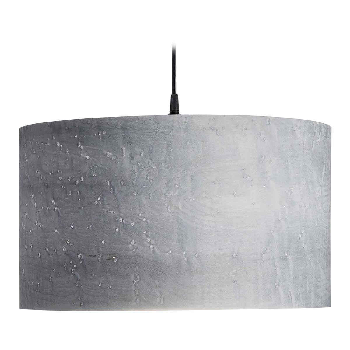 ARA Custom Gray Birdseye Maple Wood Drum Chandelier Pendant