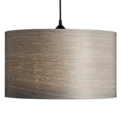 ARA Custom Gray Tay Wood Drum Chandelier Pendant