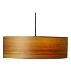 Mid Century Modern wood drum pendant