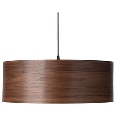 ARA Grande Walnut Wood Drum Chandelier Pendant