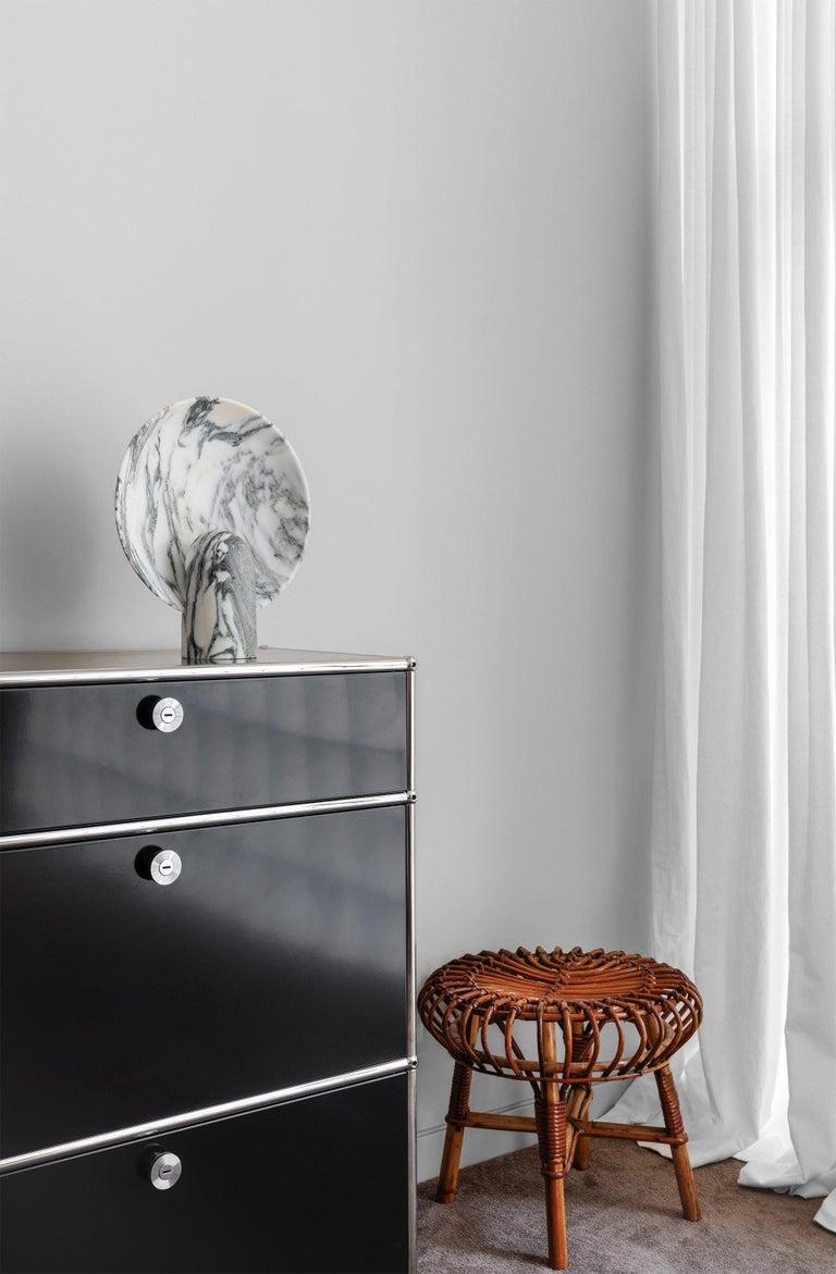 Australian Arabescato Marble Lamp by Henry Wilson For Sale