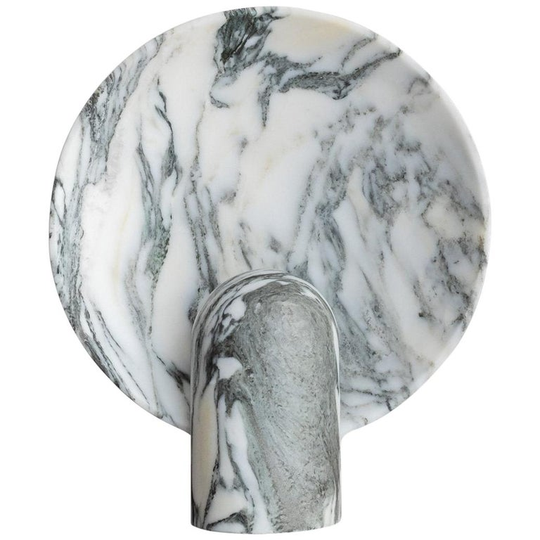 Arabescato Marble Lamp by Henry Wilson For Sale