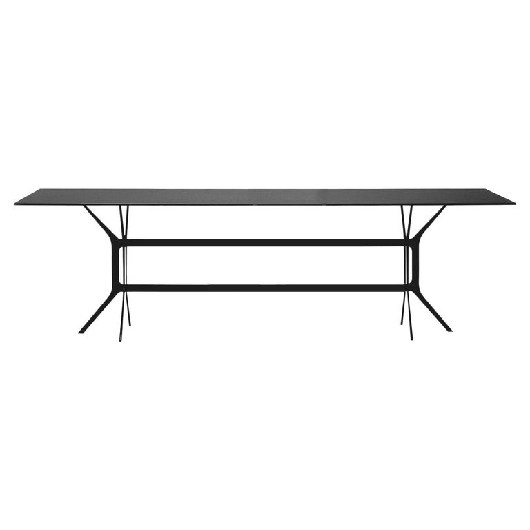 In Stock in Los Angeles, Arabesque Black Dining Table, Made in Italy For Sale
