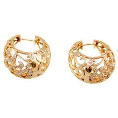Pomellato style Arabesque 18kt Pink Gold 0.85 Carat Diamonds Earrings
