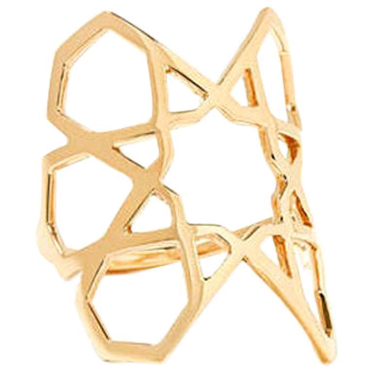 Ralph Masri Arabesque Deco Yellow Gold Ring