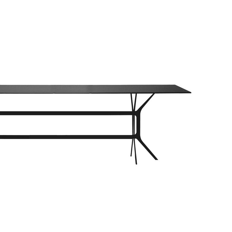 Modern In Stock in Los Angeles, Arabesque Black Dining Table, Made in Italy For Sale