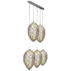 Arabesque Egg 5-Light Linear Pendant Lamp