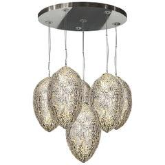 Arabesque Egg 6-Light Pendant Lamp