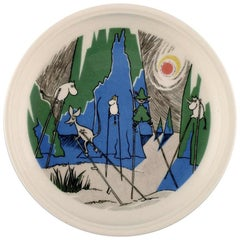 "Arabia, Finland, ""Comet in moominland"" Porcelain Plate with Motif from ""Moomin"""