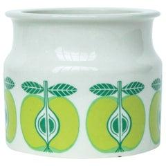 "Arabia Finland ""Pomona Green Apple"" Ceramic Preserve/Butter Pot"