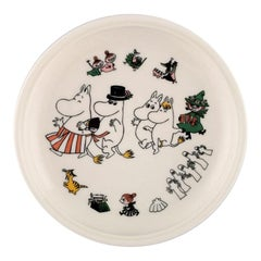 "Arabia, Finland, Porcelain Plate with Motif from ""Moomin"", Late 20th Century"