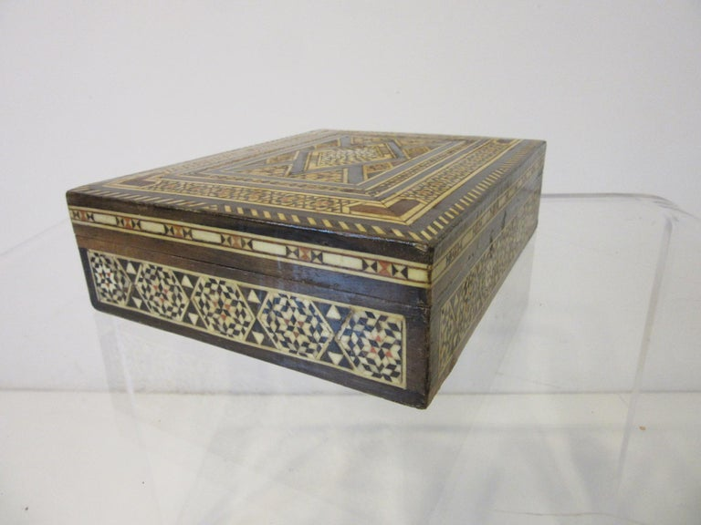 Unknown Arabian Mosaic Syrian Micro Mosaic Jewelry / Exotic Box For Sale