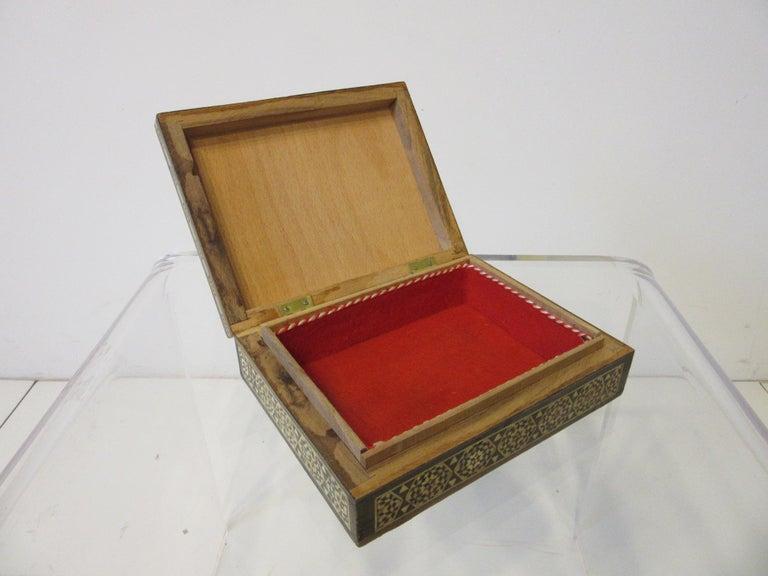 20th Century Arabian Mosaic Syrian Micro Mosaic Jewelry / Exotic Box For Sale