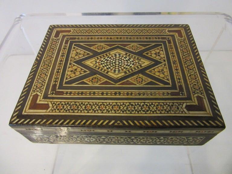 Arabian Mosaic Syrian Micro Mosaic Jewelry / Exotic Box For Sale 2