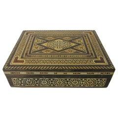 Arabian Mosaic Syrian Micro Mosaic Jewelry / Exotic Box