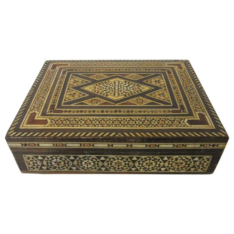 Arabian Mosaic Syrian Micro Mosaic Jewelry / Exotic Box For Sale