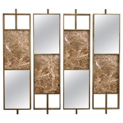 Arabica Screen in Bronze Mirror and Emperador Marble