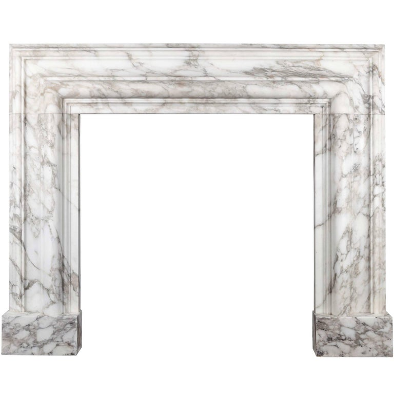 Ryan & Smith, Arabscato Bolection Fireplace For Sale
