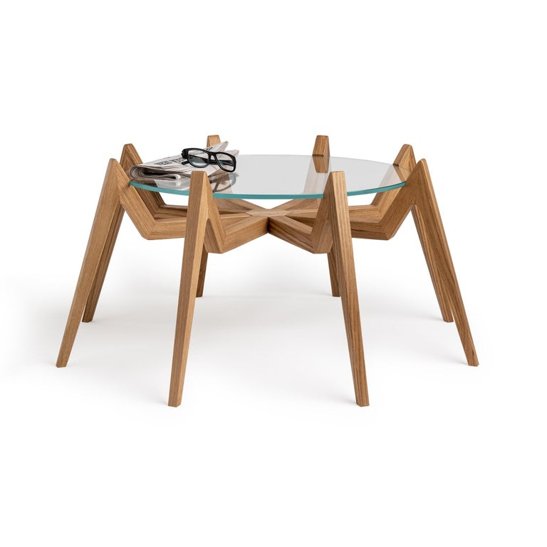 Modern Aracne Coffee Table, Honey For Sale