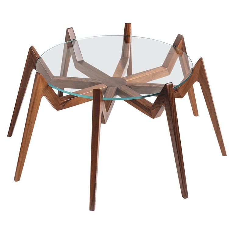 Aracne Coffee Table, Walnut For Sale