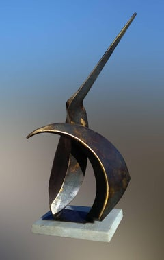 """""""Spring season"""" original iron abstract sculpture"""