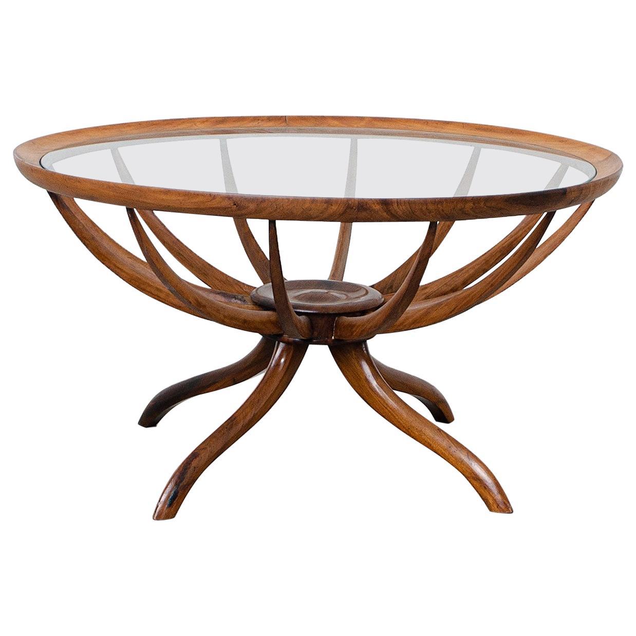 """Aranha"" Coffee Table, by Giuseppe Scapinelli, Brazilian Mid-Century Modern"