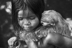 Child with Sloth, Cruzeiro do Sul, Acre Brazil