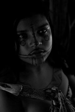 Girl Portrait, Caraja Tribe,  Araguaia River, Tocantins, Brazil (Indigenous)