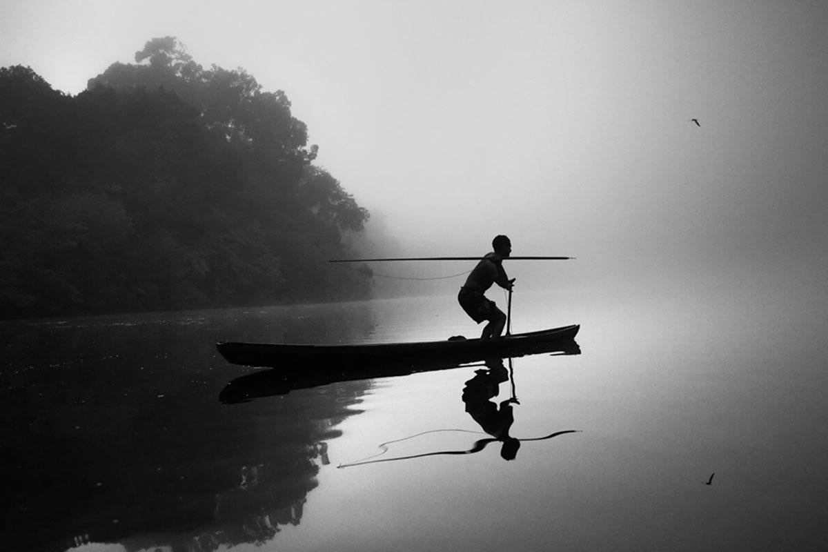 Pirarucu Fisherman, Jurua River, The Amazon Forest, Brazil