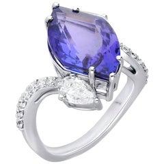 Araya 8.64 Carat Fancy Tanzanite and Diamond Cocktail Ring