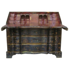 Arbalete Front Chinoiserie Writing Desk, Italy, 18th Century