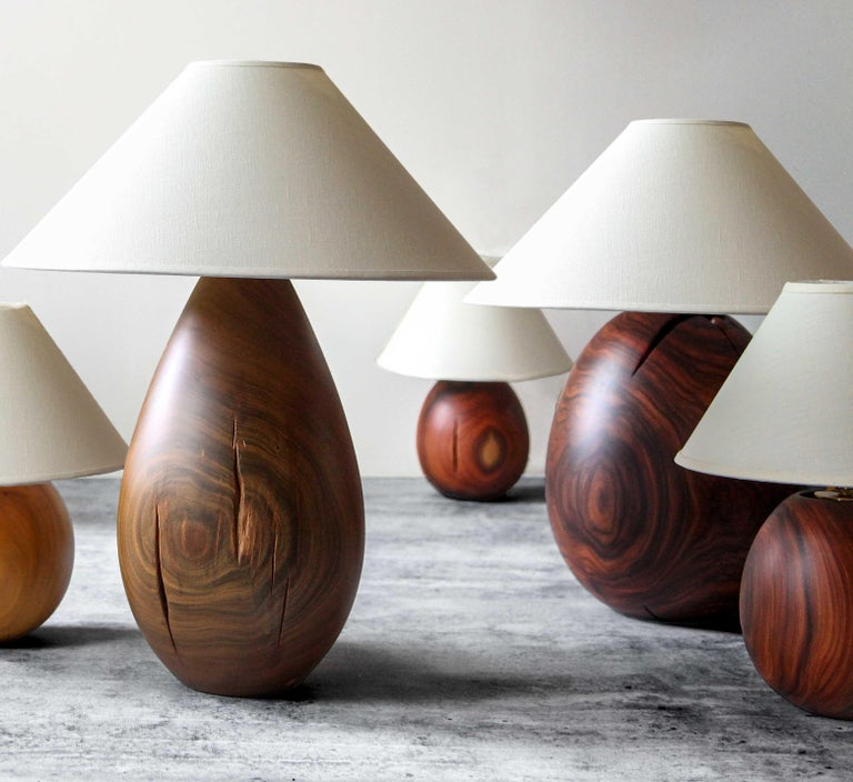 Hand-Crafted Árbol Table Lamp Collection, Guayacan Wood L1 For Sale