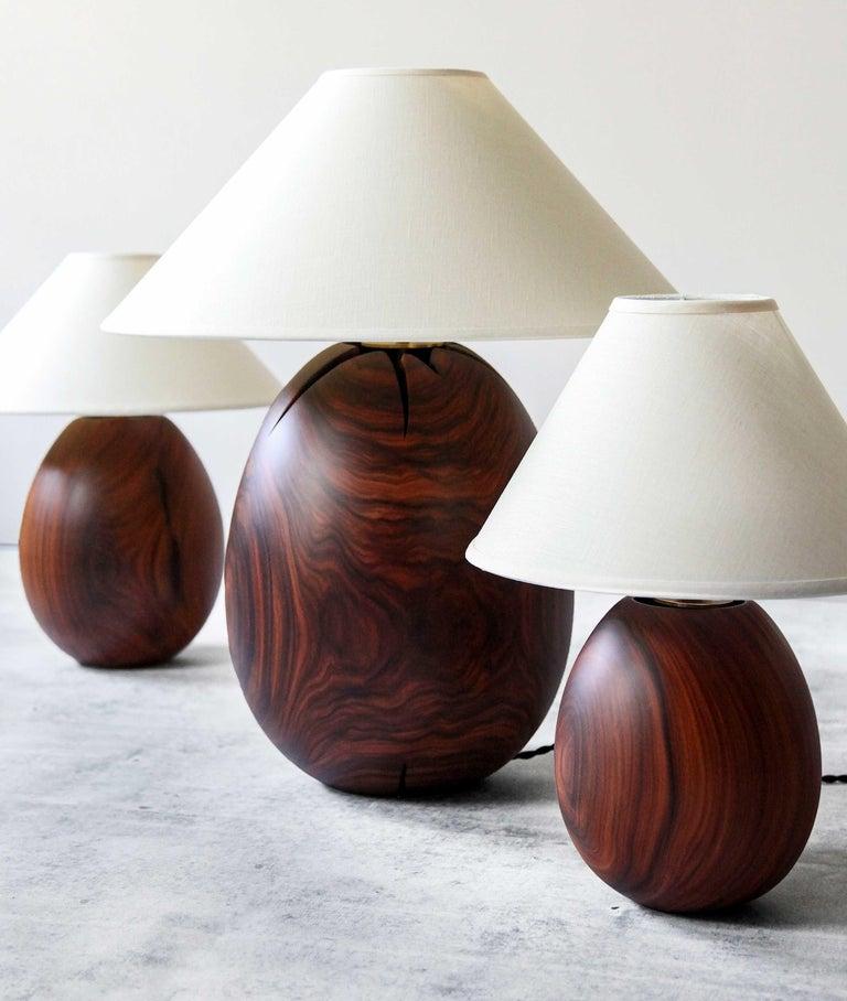 Bolivian Árbol Table Lamp Collection, Morado Wood SM1 For Sale
