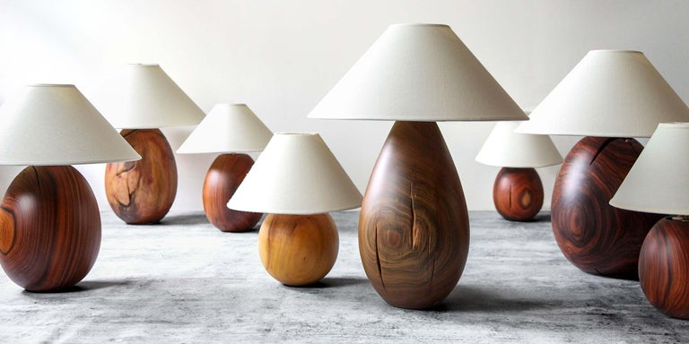 Hand-Crafted Árbol Table Lamp Collection, Morado Wood SM1 For Sale