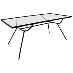 Arbuck Nelson Wrought Iron Glass Top Coffee Table