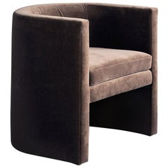 Arc Chair in Twine Velvet with Hardwood Frame by TRNK