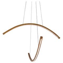 Arc - Dual Bent Oak Arm LED Pendant