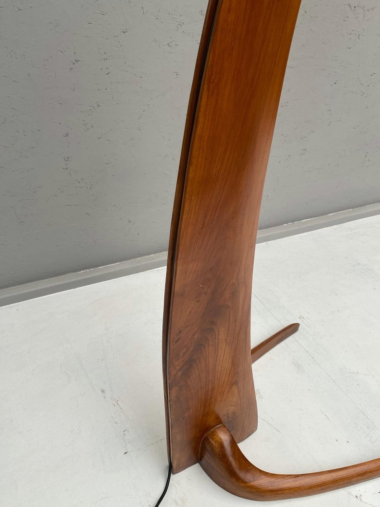 Mid-Century Modern Arc Floor Lamp in Style of J.T. Kalmar For Sale