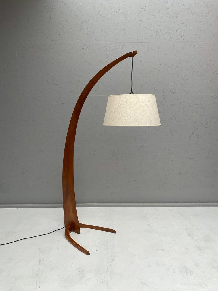 20th Century Arc Floor Lamp in Style of J.T. Kalmar For Sale